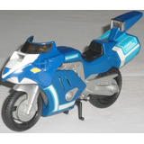 Rj- Power Rangers Moto Blue Ranger Azul Bandai 16x8cm
