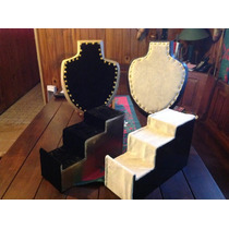 Porta Collares Y Exhibidos Escalerillas Forrados C/u 200$