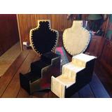Porta Collares Y Exhibidos Escalerillas Forrados