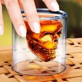 Copo Caveira De Vidro Shot Drink Bar Doomed Skull