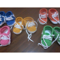 Zapatillas Bebe Crochet Oferta