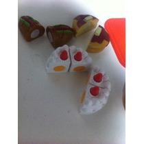 Comidinhas- Brinquedo Plástico Com Velcro- Lanche