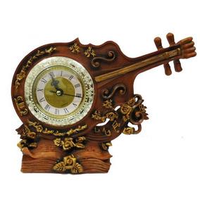Relógio De Mesa 7cm Ø Decoração Em Resina Algarismo M1
