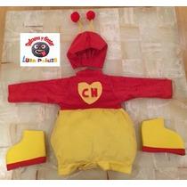 Disfraz Chapulín Colorado Bebé Tipo Botarga Envío Gratis