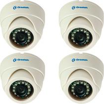 Kit 4 Cameras Dome Interna 720p Ahd-m 1mp Greatek 1014ds Top