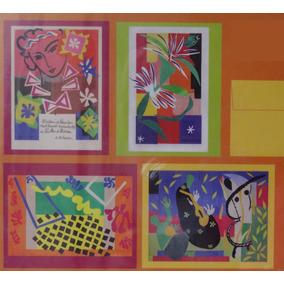 4 Cartão C/ Envelope Arte Henri Matisse Cut-outs Origem Eua