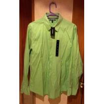 Express Camisa Manga Larga Lisa, Color Verde Pistache