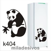 Adesivo Grande Decorativo De Cozinha Geladeira Panda Comendo