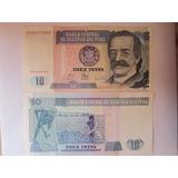 Billete Del Perú De 10 Diez Intis Ricaldo Palma Nuevas !!!!!