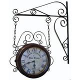 Relógio Estação Ferroviária 24cm - Artesanal