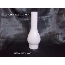 Tulipa Tubo Mediano Opal Velador Araña Aplique