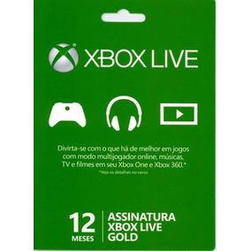 Cartão Live Gold 12 Meses 1 Ano Xbox One 360 Envio Rápido