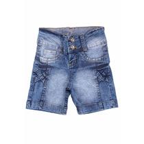 Bermuda Jeans Juvenil Meninas Feminino Tamanhos 10 Ao 16