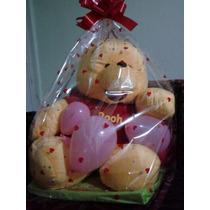 Paq 20 Bolsa De Celofan Grande Decorada Regalo Amor Navidad