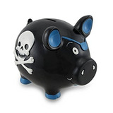 Azul Del Cráneo Del Pirata Del Cerdo Negro