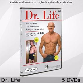 Dr. Life Seus Segredos Hormônios, Nutrição, Exercício 5 Dvds