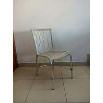 Cadeira Em Alumínio E Fibra Sintética Para Cozinha Varanda