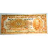 Vendo Billete De 500 Bs El Canario Del 10 De Mayo De 1966 Le