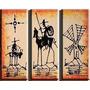 Cuadrosel Quijote Abstractos ,tripticos Decorativos