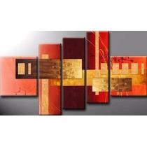 Cuadros Abstractos Modernos Tripticos Texturados Pintados