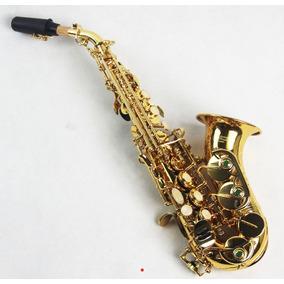 Sax Sopranino Soprano Curvo Bb Sib Custom Laqueado