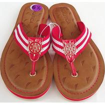 Sandalia De Vestir Para Dama Nautica Color Rojo