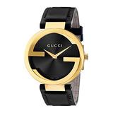 Reloj Gucci Mens Swiss Quartz Gold-tone And Leather