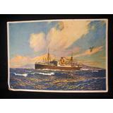 Cartão Postal Navio Navegação Mar Antigo