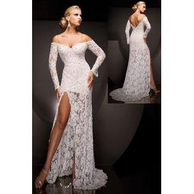 Promoção Vestido Noiva Espanhola Renda Mega Fenda Sob Medida