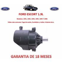 Bomba Licuadora Direccion Hidraulica Ford Escort 1991