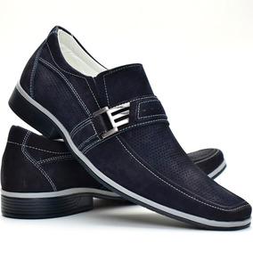 Sapato Social Casual Couro Legitimo Super Corforto Bico Fino