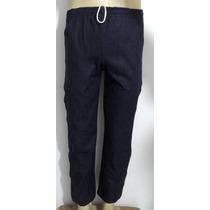Calça Jeans Marinho Masc 4 Bolsos