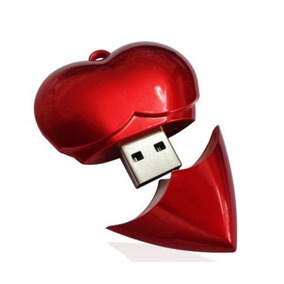 Pen Drive Usb 2.0 Colar Pingente Mini Coração 2 Gb