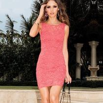 Vestido De Renda Vermelho - Moda Verão 2014
