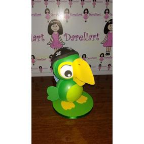 Boneco Papagaio Skully Em Eva 3d 18 Cm - Jake E Os Piratas