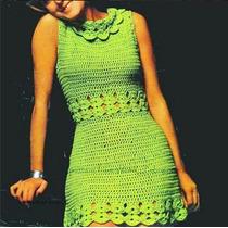 Lindo Vestido Em Crochê Personalizada 100% Feita A Mão