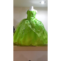 Vestido Princesa Disfraz Campanita Envio Gratis Dhl