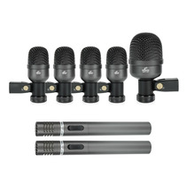 Fg Kit De Microfones Bateria Arcano Am-7a Maleta