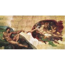 Lienzo Tela, La Creación De Adán, Miguel Angel, 80x150cm.
