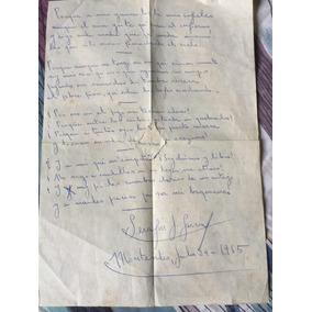 Serafín J García - Orejano. Manuscrito De Puño Y Letra.
