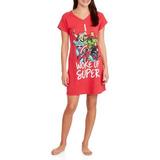 Sleep Dormitorio De Marvel Camiseta De Las Mujeres