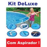 Kit De Limpeza Piscina Deluxe Intex Aspirador Peneira #28003