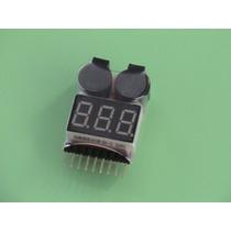 Alarme Bateria Li-po Buzzer E Teste De Li-po 1 - 8s - Rc