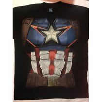 Playera Superhéroe , Capitán America, Disfraz Super Héroe