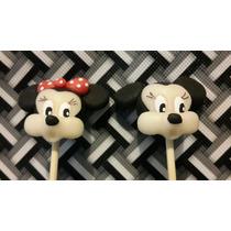10 Brochette Mickey O Minnie En Porcelana Fria