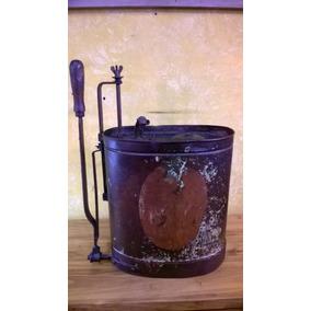 Antiguo Fumigador Mochila De Chapa