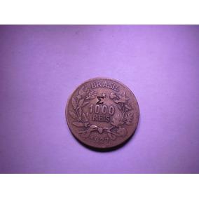 Moeda Brasil 1000 Reis 1927 C/ Carimbo -m- Bron.alum
