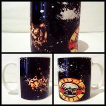 Canecas De Bandas - Slash E Logotipo - Guns N