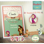 Kit Imprimible Masha Y El Oso - Cumpleaños - Candy Bar