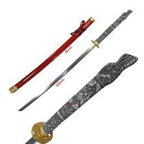Katana Mango Dragon Blanco Liston Espada Samurai Rojo Acero